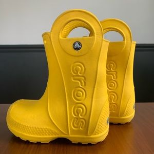 CROCS Toddler Yellow Rain Boots